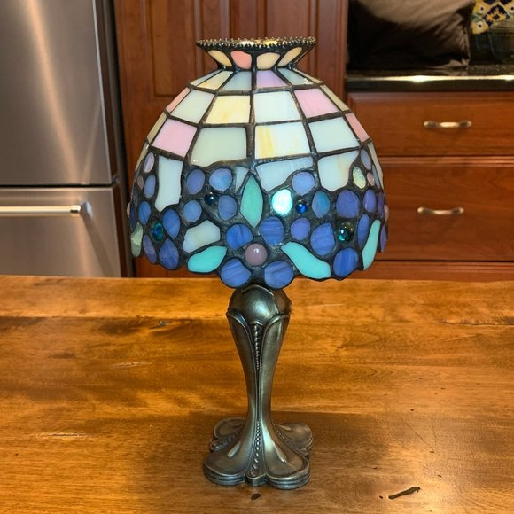 PartyLite Stained Glass 2 Pc Tea Light Holder